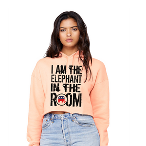 Elephant In the Room - Ladies' Cropped Fleece Hoodie