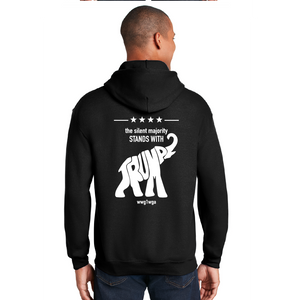Silent Majority Stands With Trump - Heavy Blend™ Hooded Sweatshirt
