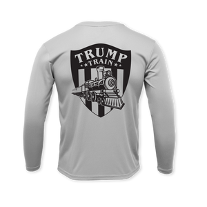 Trump Train Emblem - Performance Long Sleeve T-Shirt