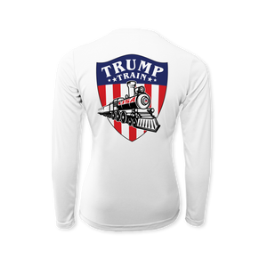 Trump Train Emblem Color - Performance Ladies Long Sleeve T-Shirt