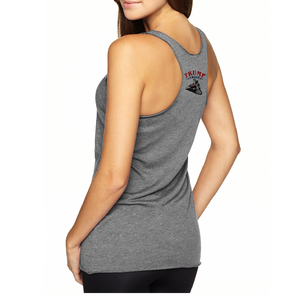 Trump Train Emblem Color - Women's Tri-blend Racerback Tank