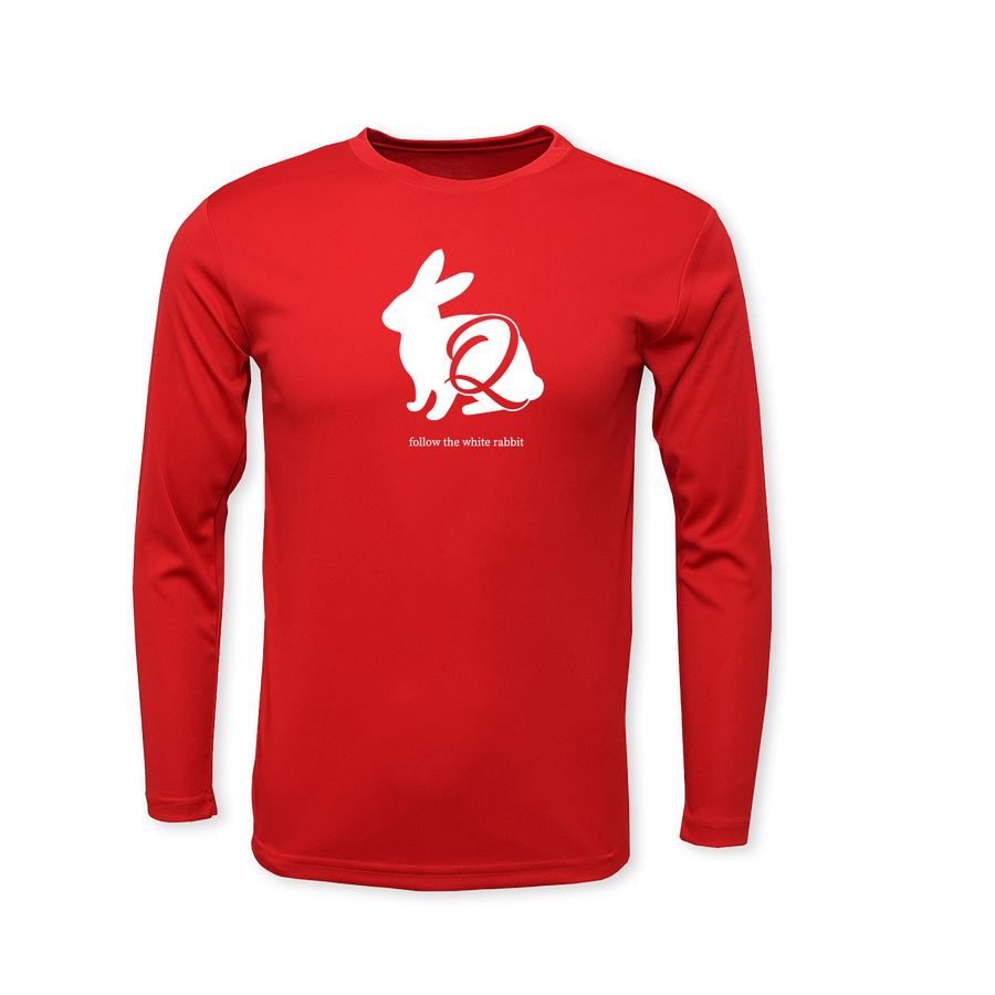 Follow the White Rabbit - Performance Long Sleeve T-Shirt
