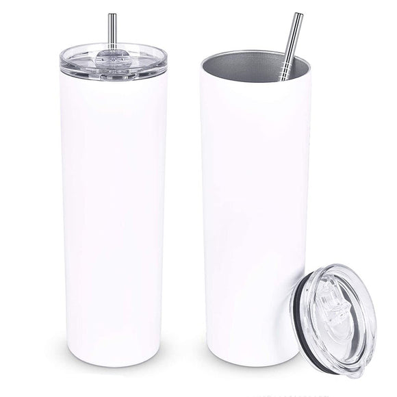 READY TO SHIP - 20 oz Skinny Straight Sublimation Tumblers. NON-Tapered