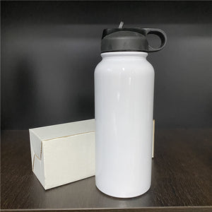 READY TO SHIP - 32 oz Fat Sublimation Water Tumbler. NON-Tapered