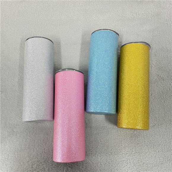 READY TO SHIP - Diamond Glitter Tumblers for Sublimation- Straight (Non-Tapered)