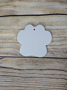 READY TO SHIP- Sublimation Aluminum Paw Ornament Set of 5!