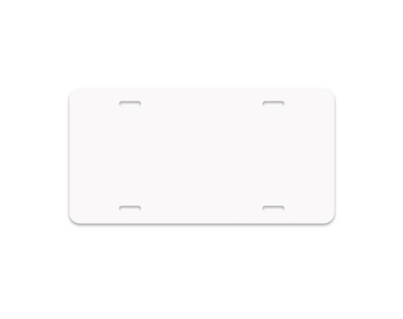 READY TO SHIP - Aluminum Car License Plate Sublimation Blank - Set of 5