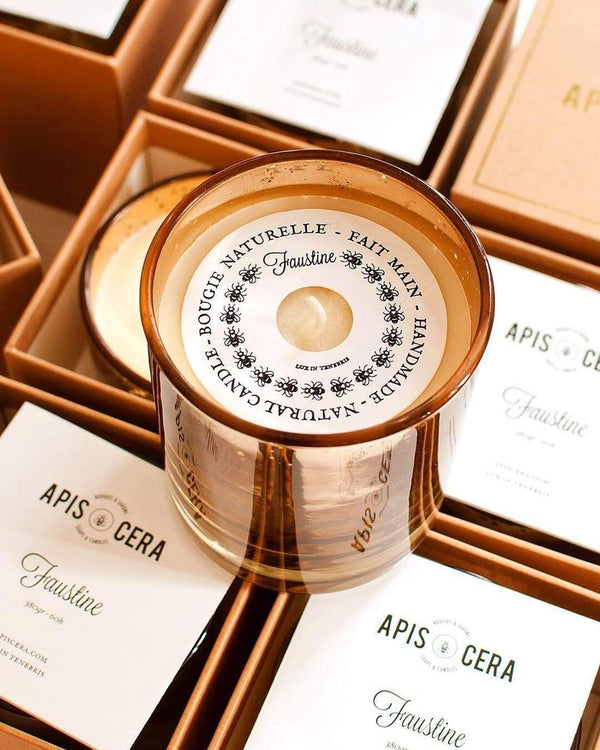 Apis Cera Candle Faustine Beeswax Amber Candle