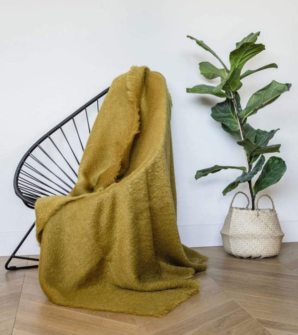 Brun de Vian-Tiran throw Pure Mohair Throw