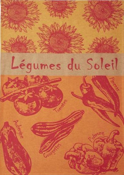 Coucke dishtowel Sun Vegetables Tea Towel/Les Legumes du Soleil