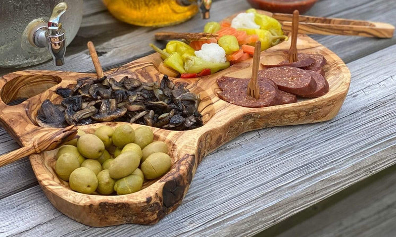 Natural OliveWood tray Olive Wood Appetizer Tray