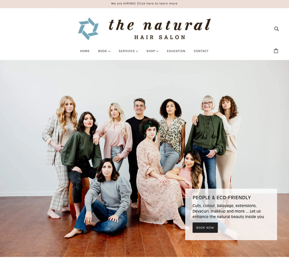 Home page for The Natural Hair Salon