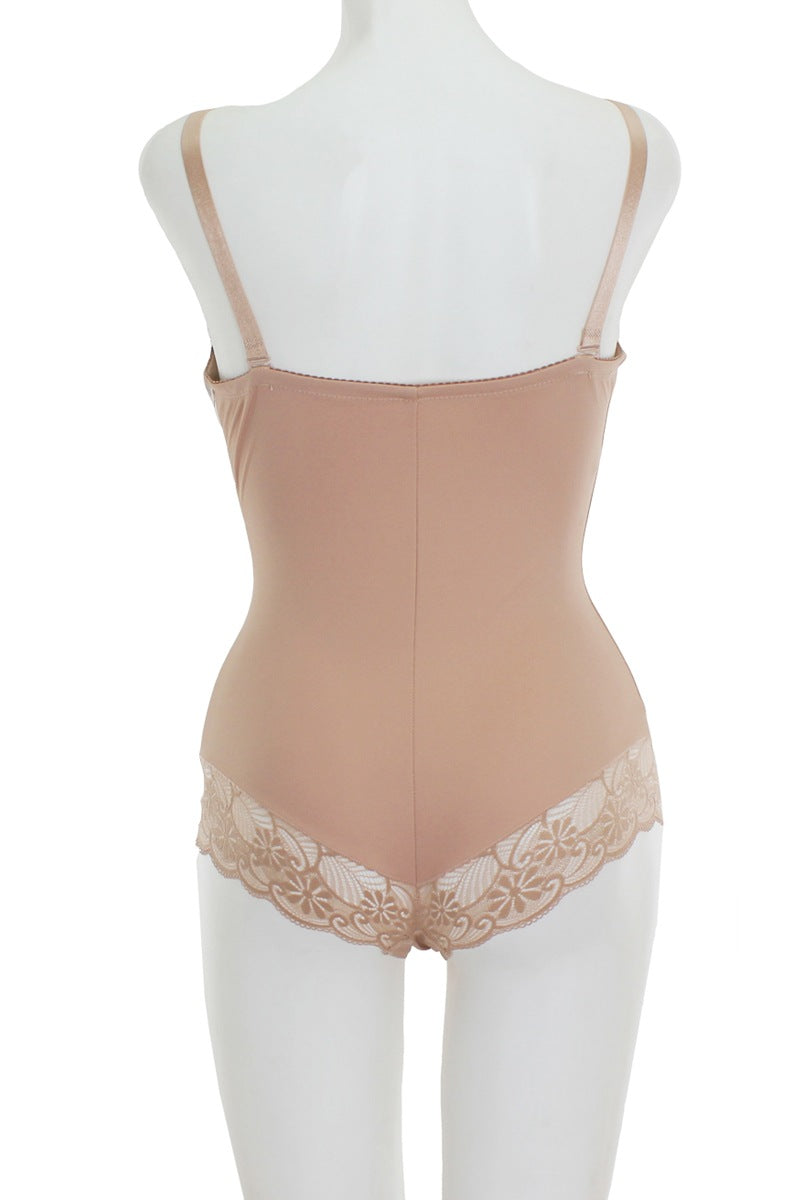 Lace And Mesh Bodysuit Shapewear - J NILLY