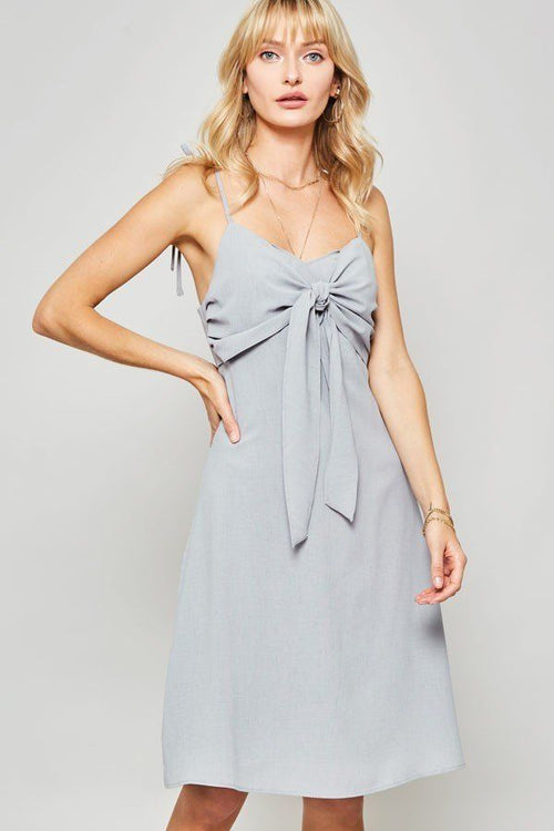 Sleeveless Knotted Bow Midi Dress - J NILLY