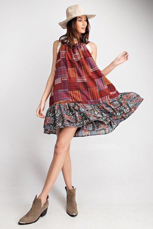 Cotton Voile Halter Dress - J NILLY