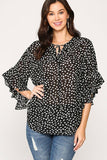 Leopard Printed Crepe Top - J NILLY