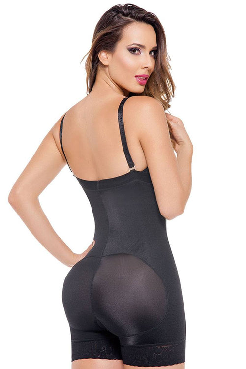 Open-Bust Compression Bodysuit - J NILLY