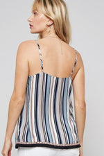 A Multi Stripes Camisole Top - J NILLY