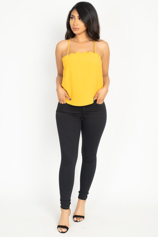 Scallop Opening Cami Top - J NILLY