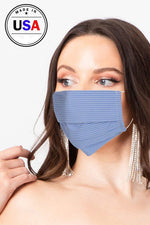 Made In Usa Unisex Fashionable, Reusable Washable, Cool Breathable Fabric Face Mask - J NILLY