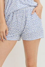 Leopard Printed Terry Short Pants - J NILLY