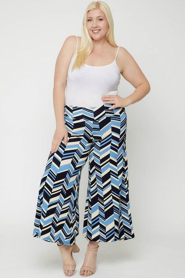 Chevron Print Pants - J NILLY