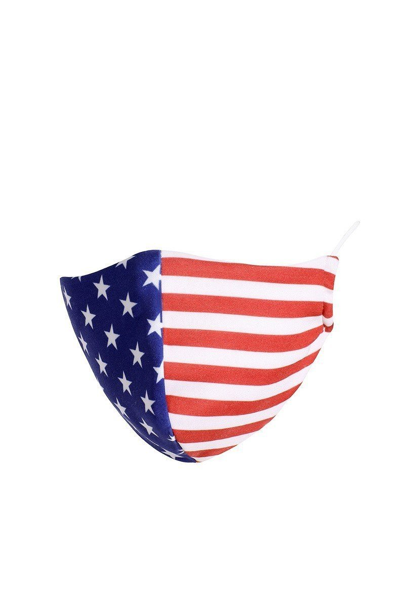 American Flag Reusable Face Mask - J NILLY