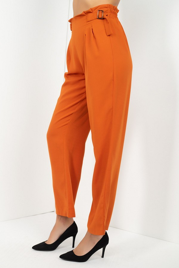 High Waist Paperbag Wide Pants - J NILLY