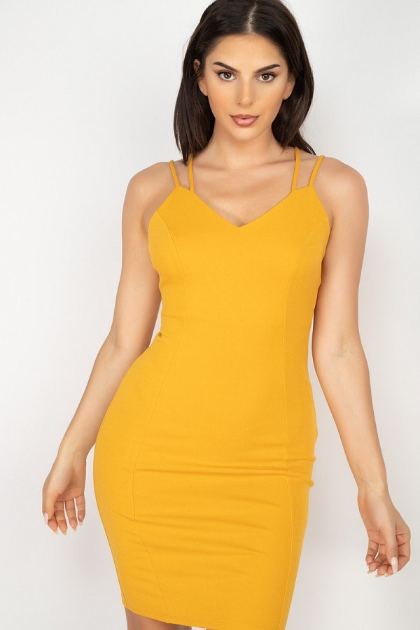 Crisscross Back Spaghetti Dress - J NILLY