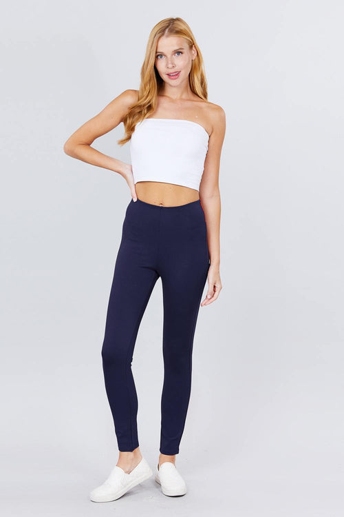 Waist Elastic Band Ponte Pants - J NILLY