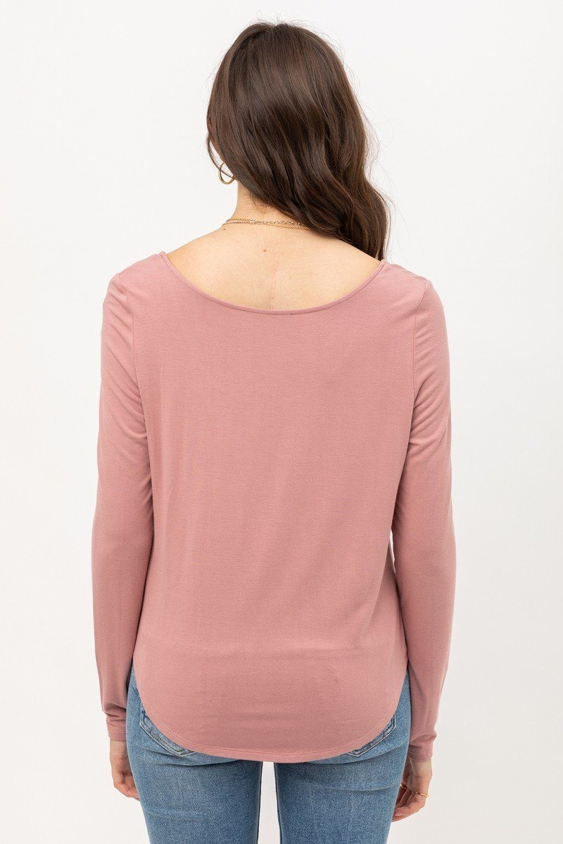 Rayon Span Jersey Front Twisted Top - J NILLY