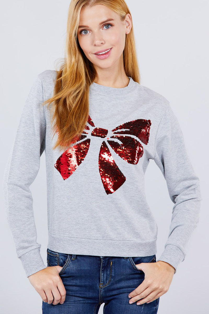Sequins Embroidered Pullover - J NILLY