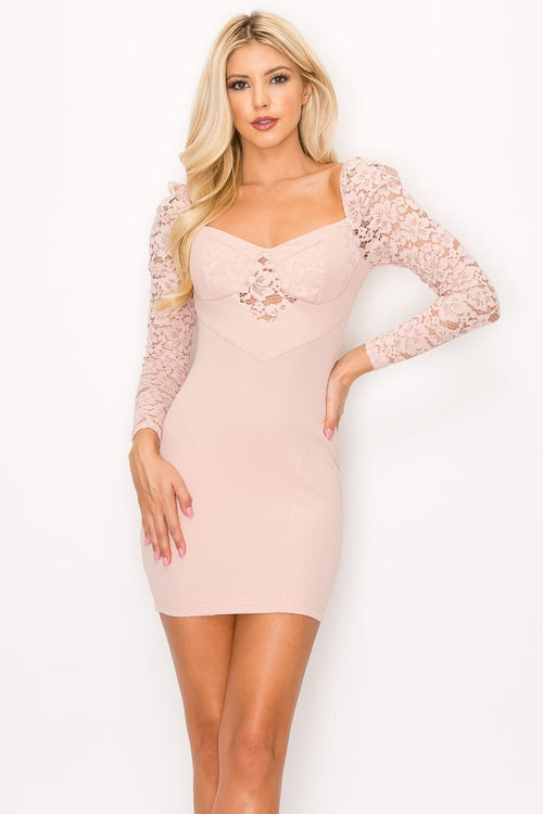 Lace Sweetheart Cutout Dress - J NILLY