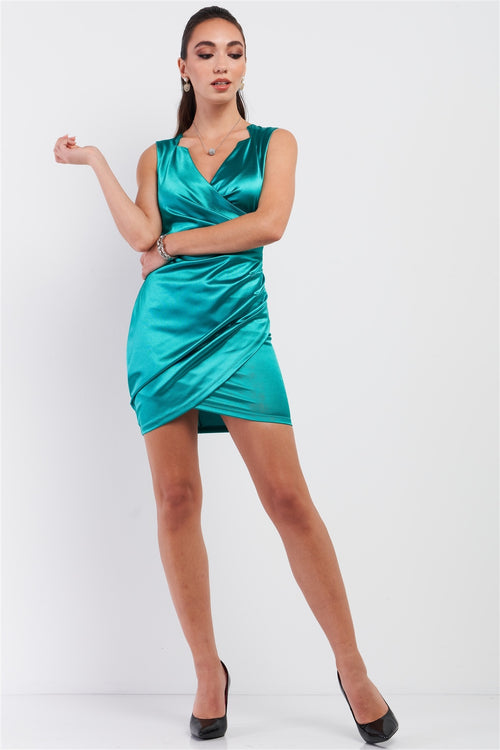 Emerald Green Satin Dress - J NILLY