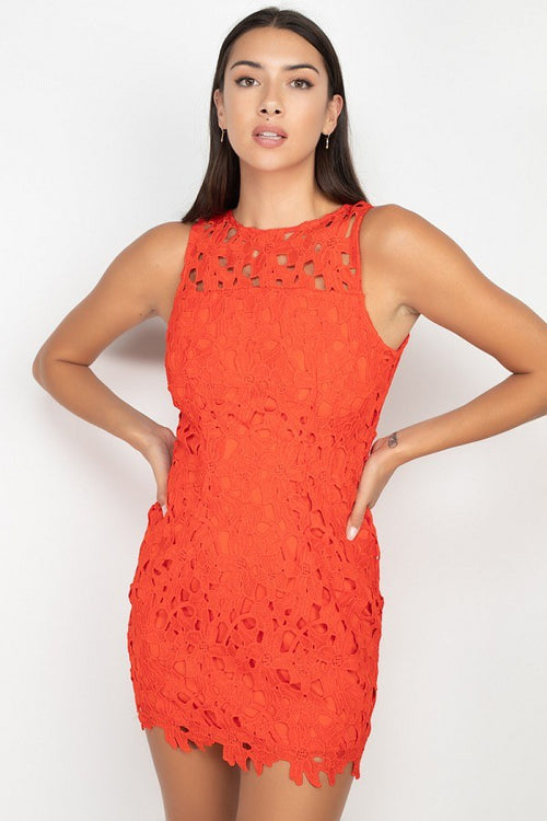 Floral Lace Bodycon Dress - J NILLY
