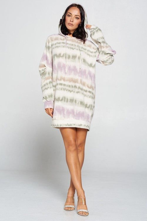 Terry Brushed Print Sweater Dress - J NILLY