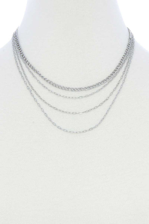 4 Layer Metal Necklace - J NILLY