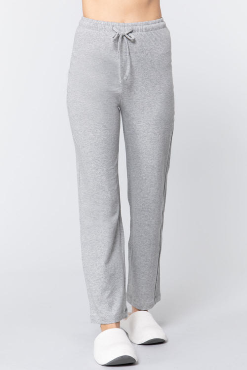 Solid Cotton Pajama Pants - J NILLY