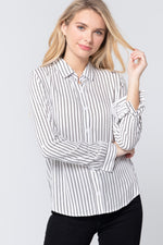 Striped Print Shirt - J NILLY