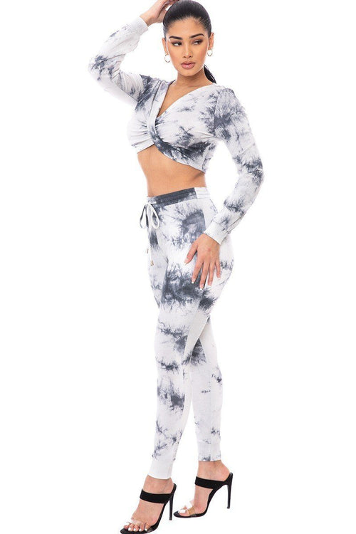 Tie Dye Ribbed Sweater Set - J NILLY