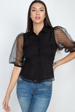 Contrast Dot Print Top - J NILLY