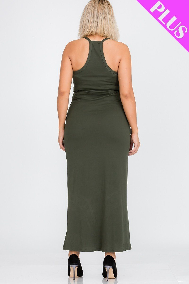 Plus Size Racer Back Maxi Dress - J NILLY