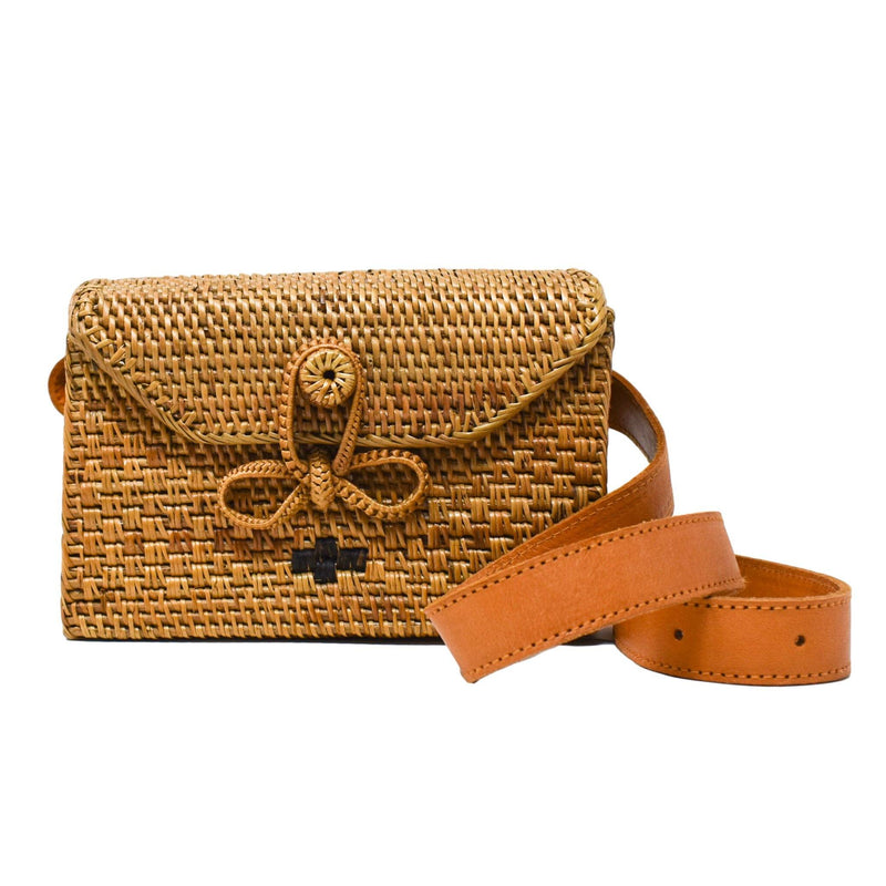 Paige Rattan Belt Bag - J NILLY