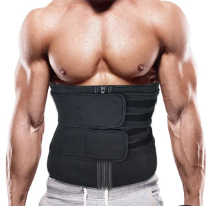 SLIMSTARR sweat belts for men. Great for workouts, back support and body shaping