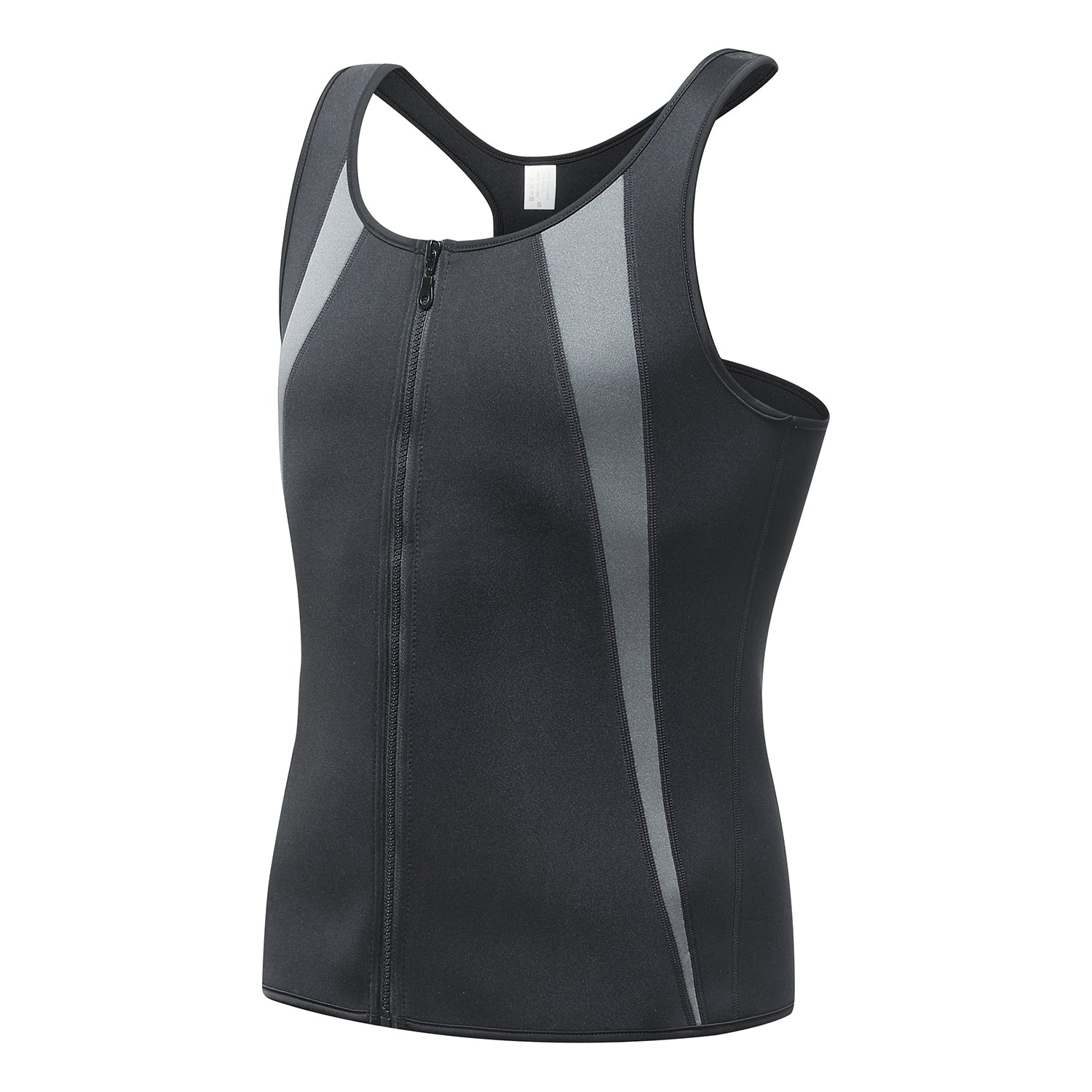 Men's Heat Trapping Sauna Sweat Vest with Zipper