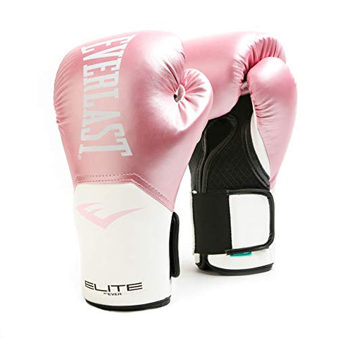 Everlast Elite Pro Style Training Gloves, Pink/White, 8 oz