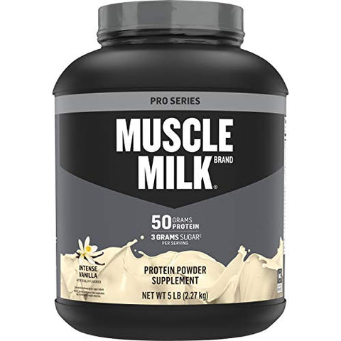 Muscle Milk Pro Series Protein Powder, 50g Protein, Intense Vanilla, 5 Pound, 28 Servings