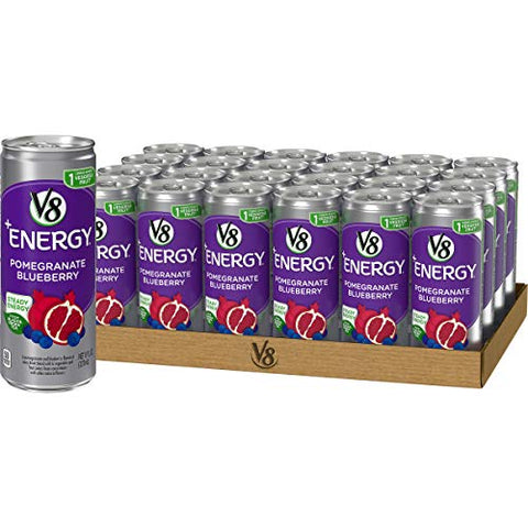 V8 +Energy, Healthy Energy Drink, Pomegranate Blueberry