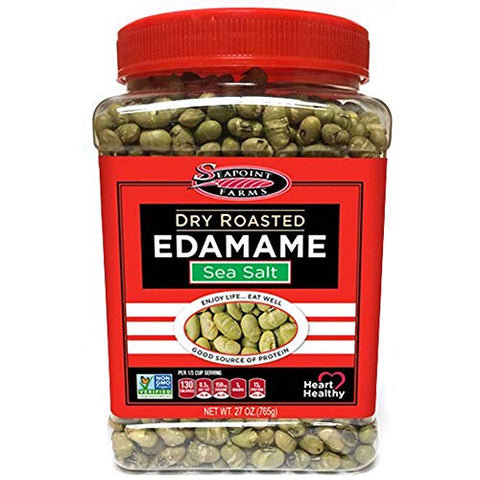 Seapoint Farms Sea Salt Dry Roasted Edamame, Healthy Gluten-Free
