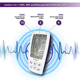 Progoo 2020 New Dual Channels TENS Unit 3 in 1 EMS Muscle Stimulator